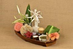 Krinum asiaticum, zielony liścia gel majątkową medycynę Obrazy Royalty Free