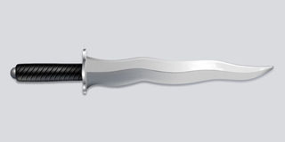 Kris dagger knife - vector art. Vector illustration of a kris dagger with a wavy blade Royalty Free Stock Image