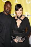 Kris Jenner και τυχερό παιχνίδι του Corey Στοκ φωτογραφία με δικαίωμα ελεύθερης χρήσης