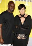 Kris Jenner και τυχερό παιχνίδι του Corey Στοκ φωτογραφίες με δικαίωμα ελεύθερης χρήσης