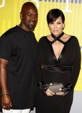 Kris Jenner e Corey Gamble imagem de stock royalty free