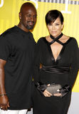 Kris Jenner e Corey Gamble fotos de stock royalty free