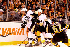 Kris Letang and Brooks Orpik Penguins defense Stock Photo