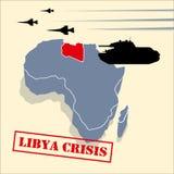 kris libya royaltyfri illustrationer