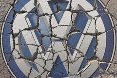 Kris på Volkswagen Arkivbilder