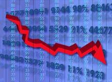 Krise, die auf Welt sich stark auswirkt Lizenzfreie Stockbilder