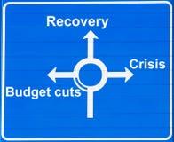 Krise oder Wiederanlauf Stockfoto