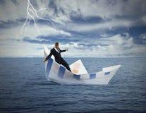 Krise und wirtschaftlicher Einsturz Stockbild