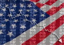 Krise in USA Stockbilder