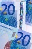 Krise von Euro Stockbild