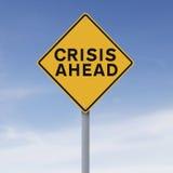 Krise voran lizenzfreies stockfoto