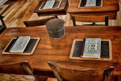 Der Schreibtisch des Lehrers Stockfoto