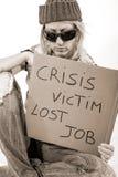 Krisen-Opfer-Obdachloser 1929 Lizenzfreie Stockbilder