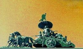 Krishna και Arjuna στο πολεμικό άρμα Bhagavad Gita στοκ εικόνα με δικαίωμα ελεύθερης χρήσης