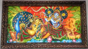 krishna με το radha στοκ εικόνα με δικαίωμα ελεύθερης χρήσης