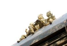 Krishna на изолированной крыше Стоковое фото RF