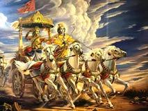 Krishna and Arjuna Stock Photography