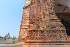 Krishna Chandra świątynia Kalna, Zachodni Bengalia, India zdjęcie royalty free