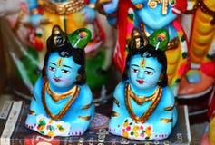 Krishna del bebé Estatuilla de la porcelana La India del sur Imagen de archivo libre de regalías