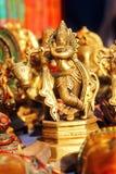 Krishna del señor con la vaca Imagenes de archivo