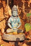 Krishna en la figura de la posición de loto La India Foto de archivo