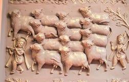 Krishna Gopal und Balram-Plakette Indien lizenzfreie stockfotos