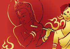 krishna indu szereg Murali Zdjęcie Royalty Free