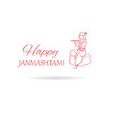 Krishna Janmashtami background in . Greeting card for Kris. Hna birthday. Illustration of India community festival Krishna Janmashtami stock illustration