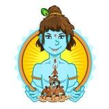 Krishna Janmashtami Dahi Handi Illustration Lizenzfreie Stockfotografie