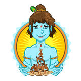 Krishna Janmashtami Dahi Handi Illustration Royalty Free Stock Photography