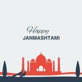 Krishna-janmashtami Hintergrund Lizenzfreies Stockfoto
