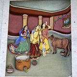 Krishna-Lila στοκ φωτογραφία