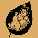 Krishna is a little Royalty Free Stock Image