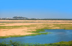 Krishna river Royalty Free Stock Photography