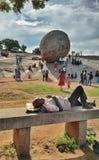 Krishna& x27; s-Butterball, Mamallapuram lizenzfreies stockfoto