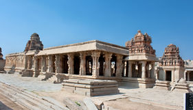 Krishna temple, Hampi. Karnataka state, India Royalty Free Stock Photo
