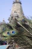 Krishna y plumas del pavo real Fotografía de archivo libre de regalías