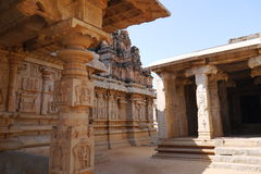 Krishnas Tempel in Hampi Stockbild