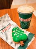Krispy Kreme Doughnuts royalty free stock photo