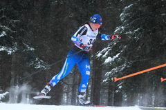 Krista Parmakoski - Cross Country-Skifahren Stockfotografie