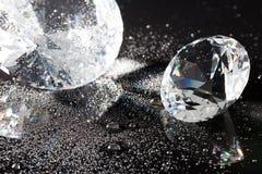 Kristal en waterdalingen Stock Foto's