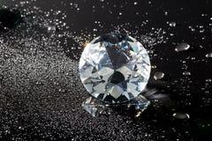 Kristal en waterdalingen Stock Afbeeldingen