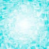 Kristal, ijs, halfedelsteen blauwe vector abstracte achtergrond voor embleem of tekst Veelhoekige mozaïekillustratie als achtergr Royalty-vrije Stock Foto
