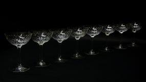 Kristal stemware Royalty-vrije Stock Foto's