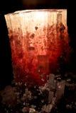 Kristal van elbaite, stock fotografie