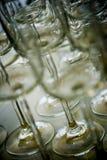 Kristalglazen Stock Foto