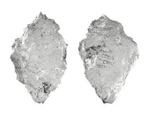 Kristalijsberg op wit wordt geïsoleerd dat Royalty-vrije Stock Afbeeldingen