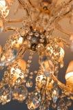 Kristalkroonluchter Stock Afbeeldingen