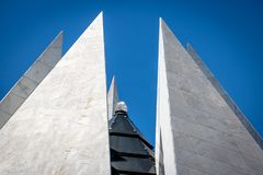 Kristall överst av templet av goodwill - den Templo da boaen Vontade - Brasilia, federala Distrito, Brasilien royaltyfri bild