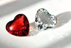 Kristall 2 der Liebe Lizenzfreie Stockfotografie